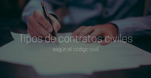 tipos de contratos civiles