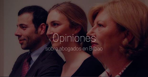 Opiniones sobre abogados en Bilbao
